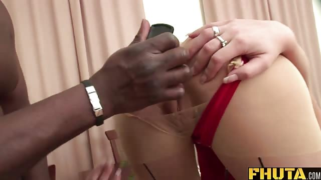 Kristina's butt hole gapes for a hard black dick
